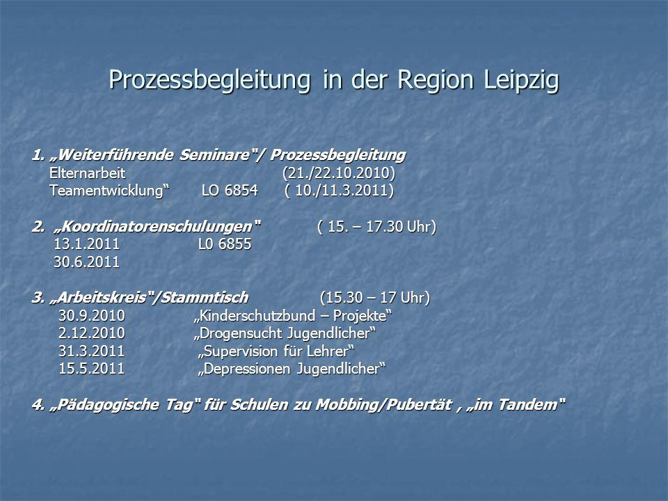 Koordinatorenschulung am 25.09.2010 mit Suchtkoordinatorin/ Stadt Leipzig zu Kinderschutzbund - Angeboten