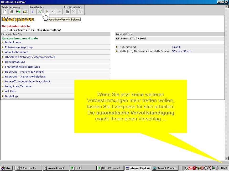 Dieses können Sie in viele führende AVA-Programme übernehmen oder auch nach Excel