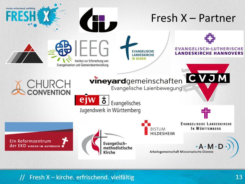 // Fresh X – kirche. erfrischend. vielfältig 13 Fresh X – Partner