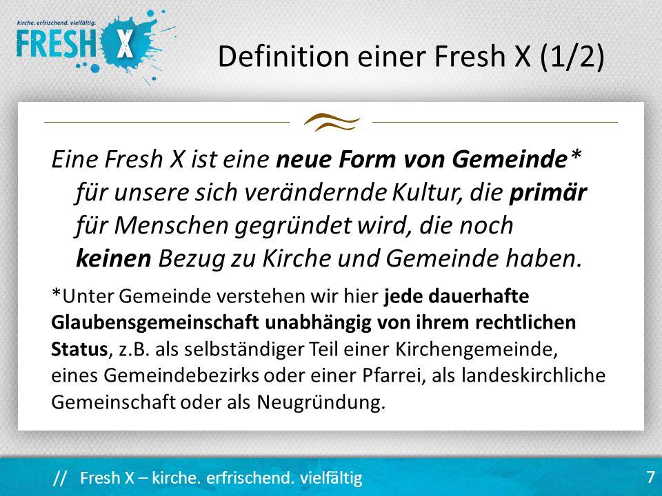 // Fresh X – kirche.erfrischend. vielfältig Langzeitkurs für Ehren- und Hauptamtliche (ca.