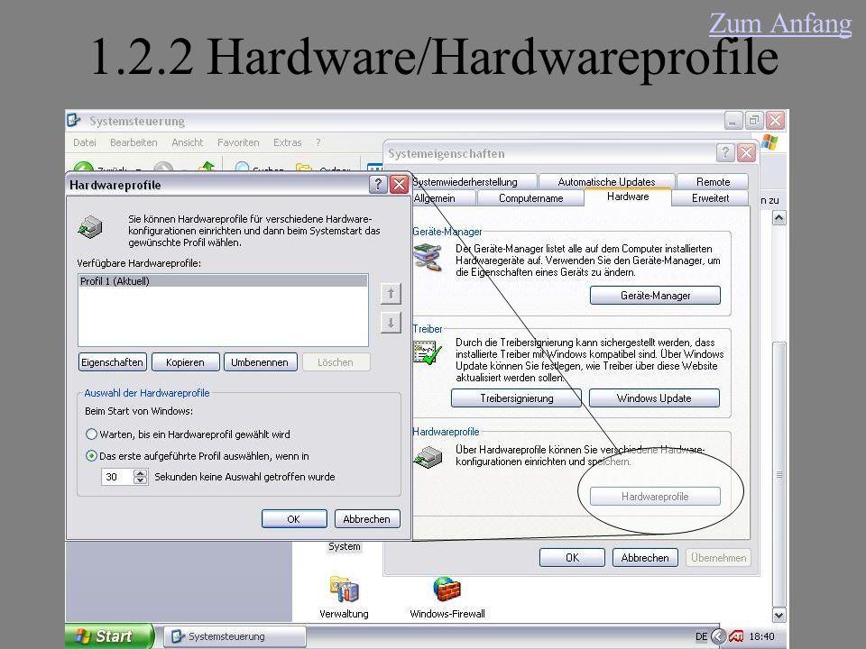 1.2.2 Hardware/Hardwareprofile Zum Anfang