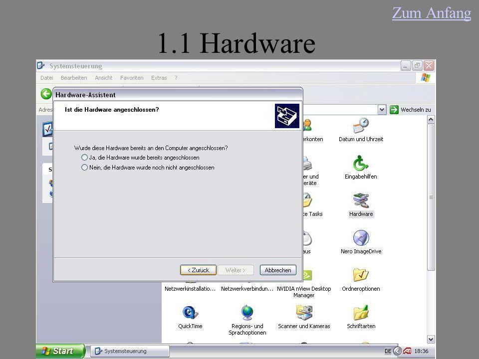 1.1 Hardware Zum Anfang