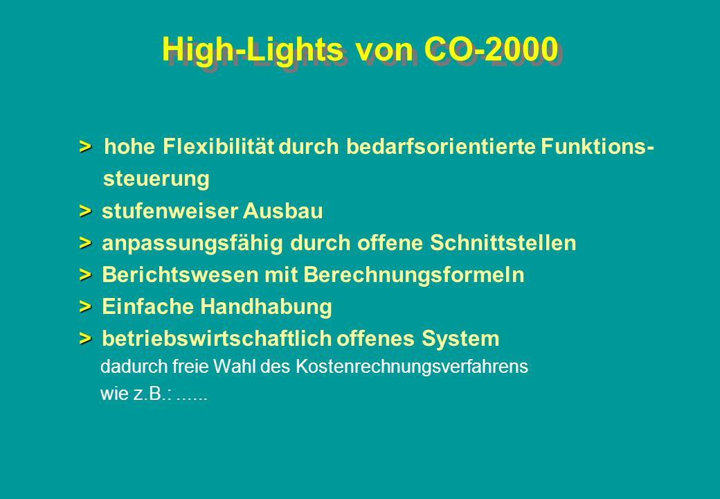 CO-2 Kostenstellenrechnung Istrechnung Datenübernahme aus Finanzbuchhaltung, Lohn- u.