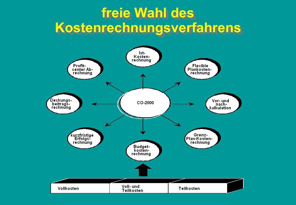 Kostenträger Plan-Rechnung z.B.