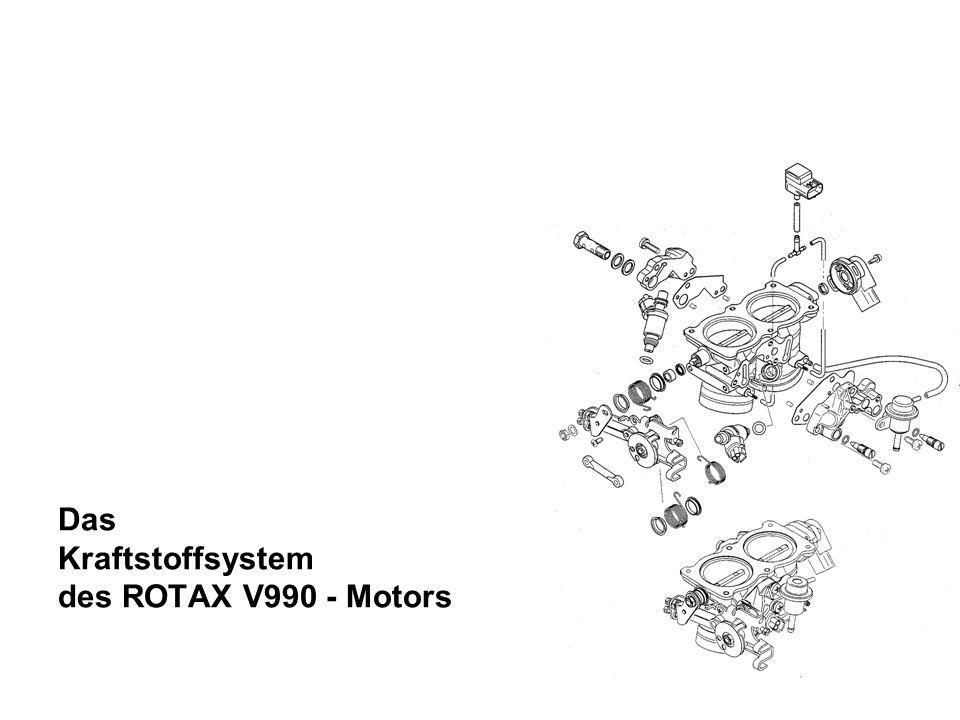 Das Kraftstoffsystem des ROTAX V990 - Motors