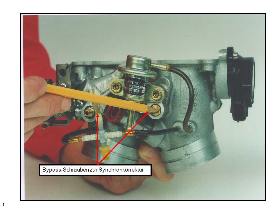 t Bypass-Schrauben zur Synchronkorrektur