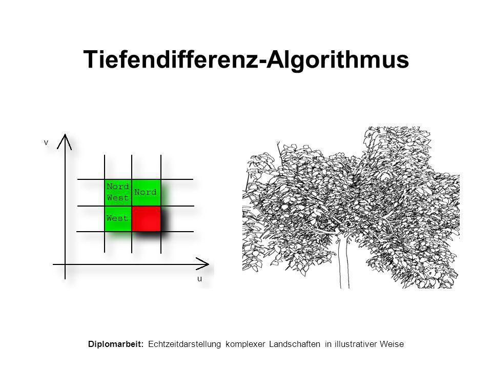 Diplomarbeit: Echtzeitdarstellung komplexer Landschaften in illustrativer Weise Tiefendifferenz-Algorithmus
