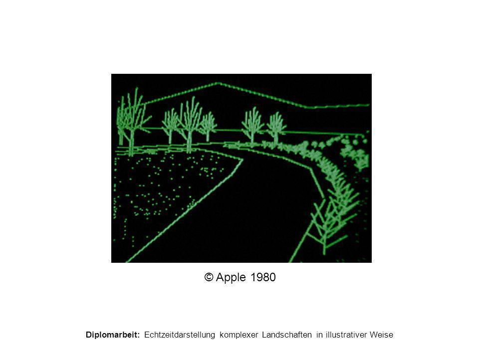 Diplomarbeit: Echtzeitdarstellung komplexer Landschaften in illustrativer Weise Non Photorealistic Rendering  besserer Informationstransport  Explosionszeichnungen, Architektur-Entwürfe