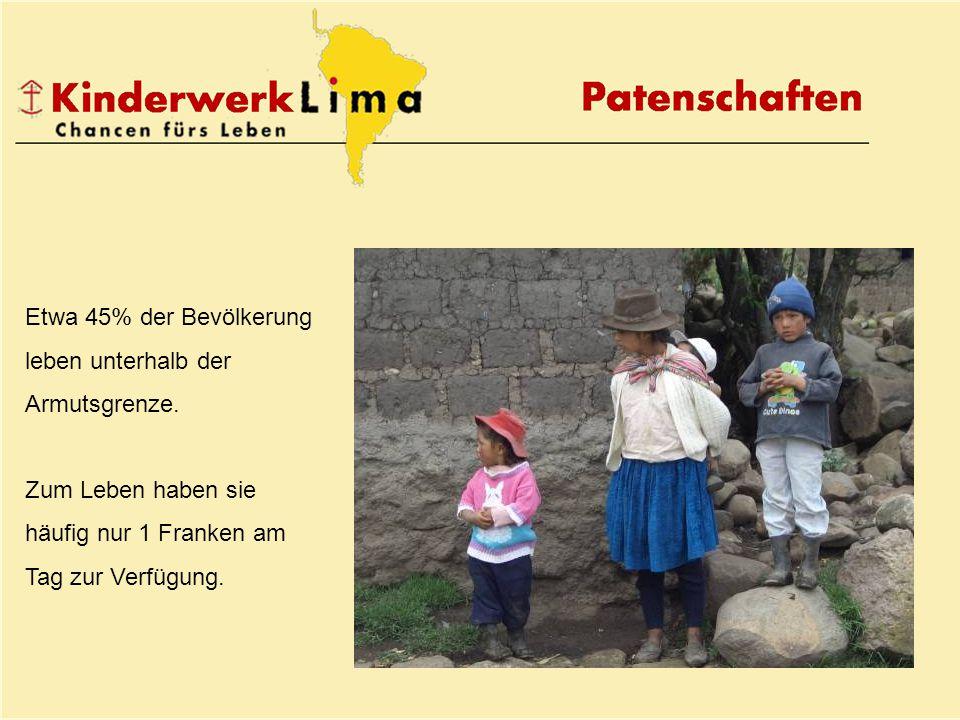 Etwa 45% der Bevölkerung leben unterhalb der Armutsgrenze.