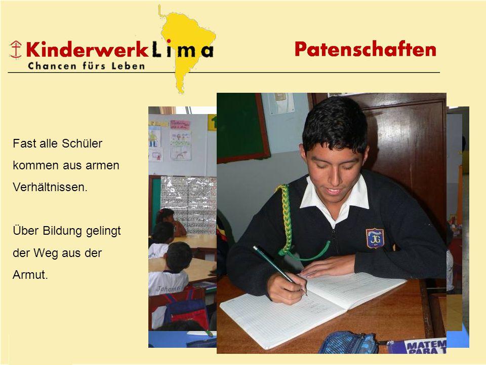 Fast alle Schüler kommen aus armen Verhältnissen. Über Bildung gelingt der Weg aus der Armut.