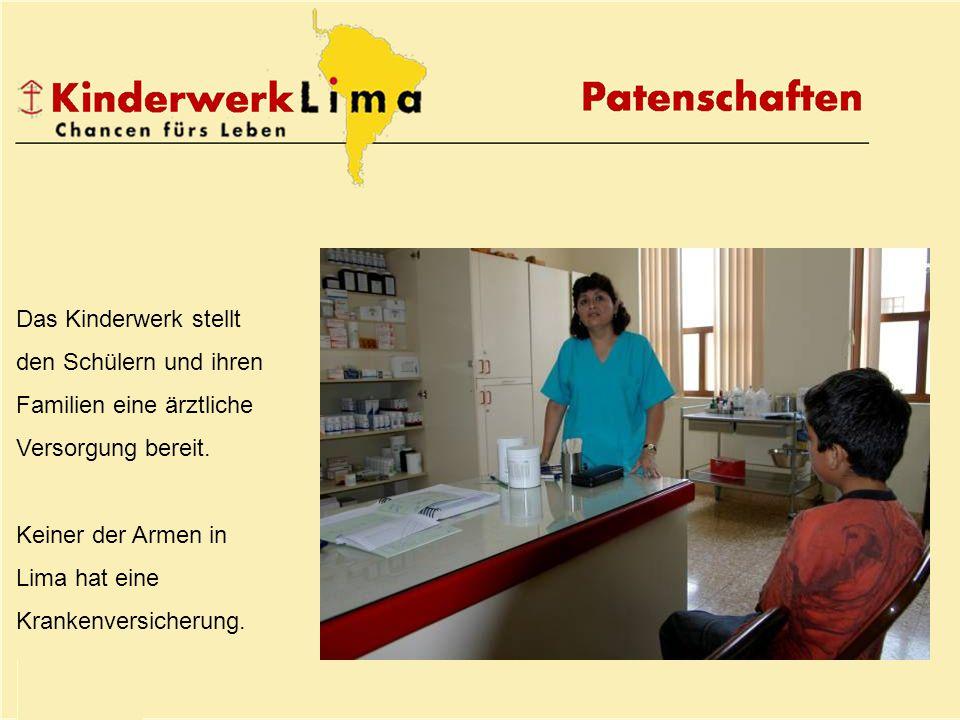 Das Kinderwerk stellt den Schülern und ihren Familien eine ärztliche Versorgung bereit.