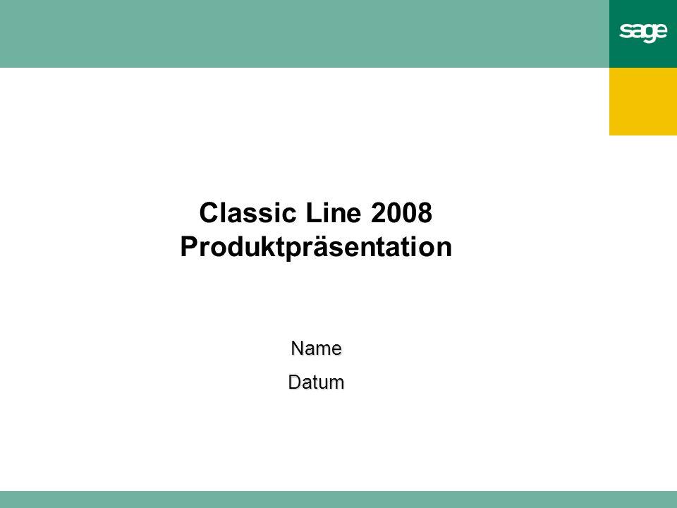 Classic Line 2008 Produktpräsentation NameDatum