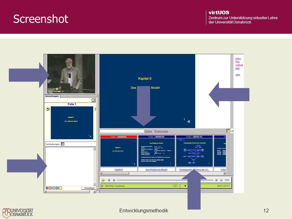 Entwicklungsmethodik12 virtUOS Zentrum zur Unterstützung virtueller Lehre der Universität Osnabrück Screenshot