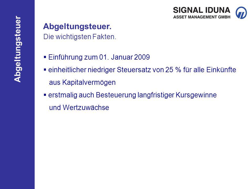 Abgeltungsteuer Altes versus neues Recht.Sparerfreibetrag von 801 EUR pro Person (inkl.