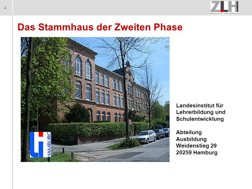 4 Das Stammhaus der Zweiten Phase Landesinstitut für Lehrerbildung und Schulentwicklung Abteilung Ausbildung Weidenstieg 29 20259 Hamburg