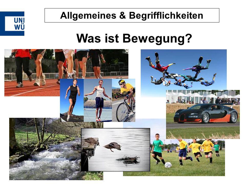 Allgemeines & Begrifflichkeiten Was ist Bewegung?