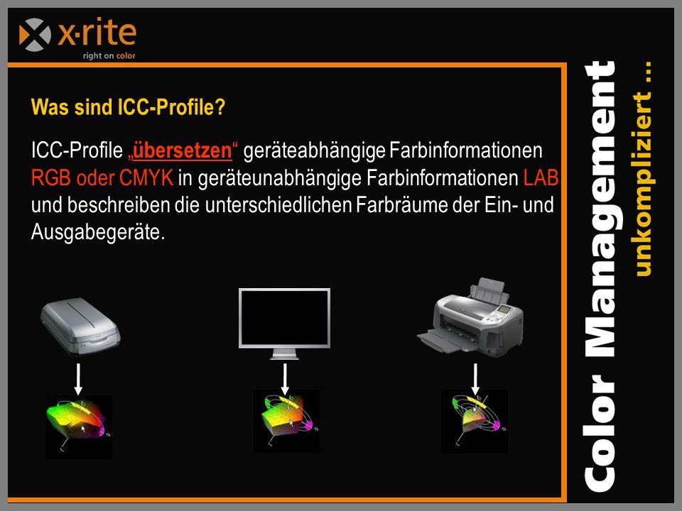 Was sind ICC-Profile.