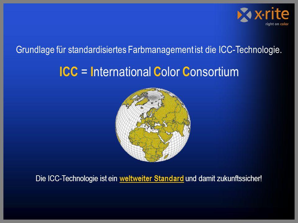 Grundlage für standardisiertes Farbmanagement ist die ICC-Technologie.