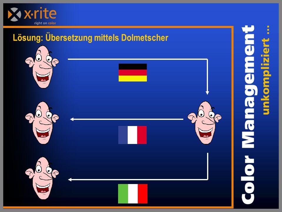 Lösung: Übersetzung mittels Dolmetscher