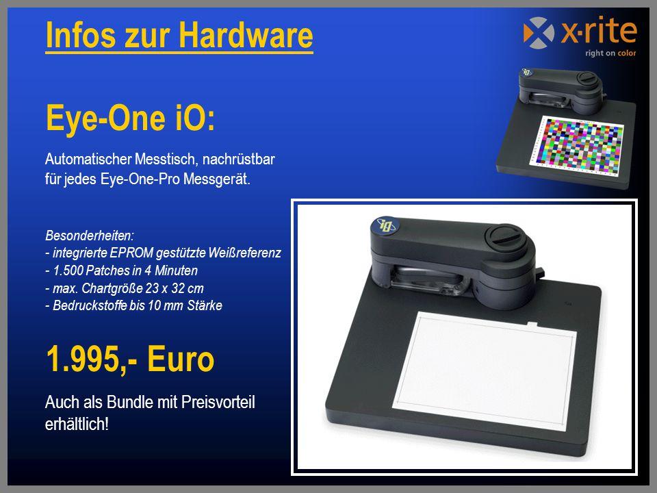 Eye-One iO: Automatischer Messtisch, nachrüstbar für jedes Eye-One-Pro Messgerät.