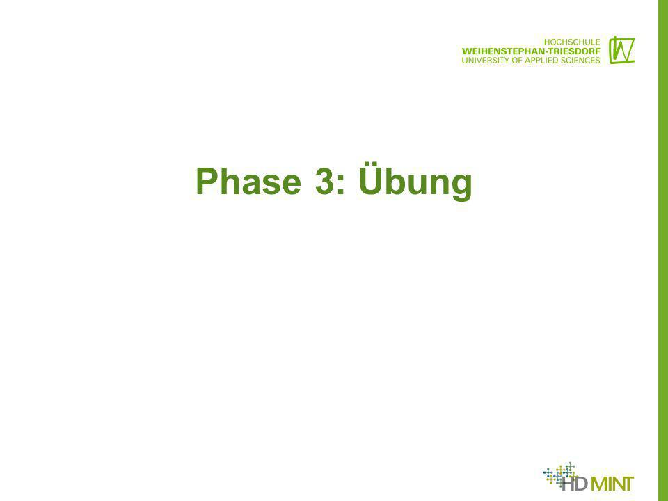 Phase 3: Übung