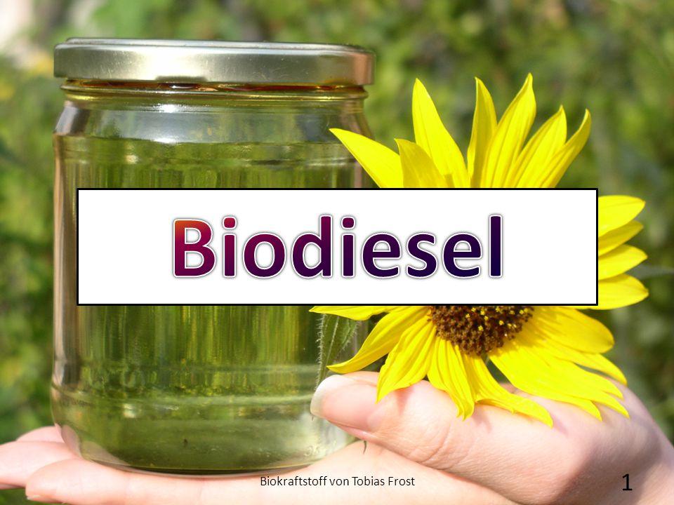 """1.Fossile Erdöl vorkommen """"Vom Rapsöl zum Biotreibstoff 2.Experiment """"Vom Rapsöl zum Biotreibstoff 3.Vergleich: Diesel und Biodiesel 4.Kostenfaktor 5.Anwendung von Biodiesel 6.Geschichte 7.Zeit für eure Fragen 8.Links Biokraftstoff von Tobias Frost2 Gliederung"""