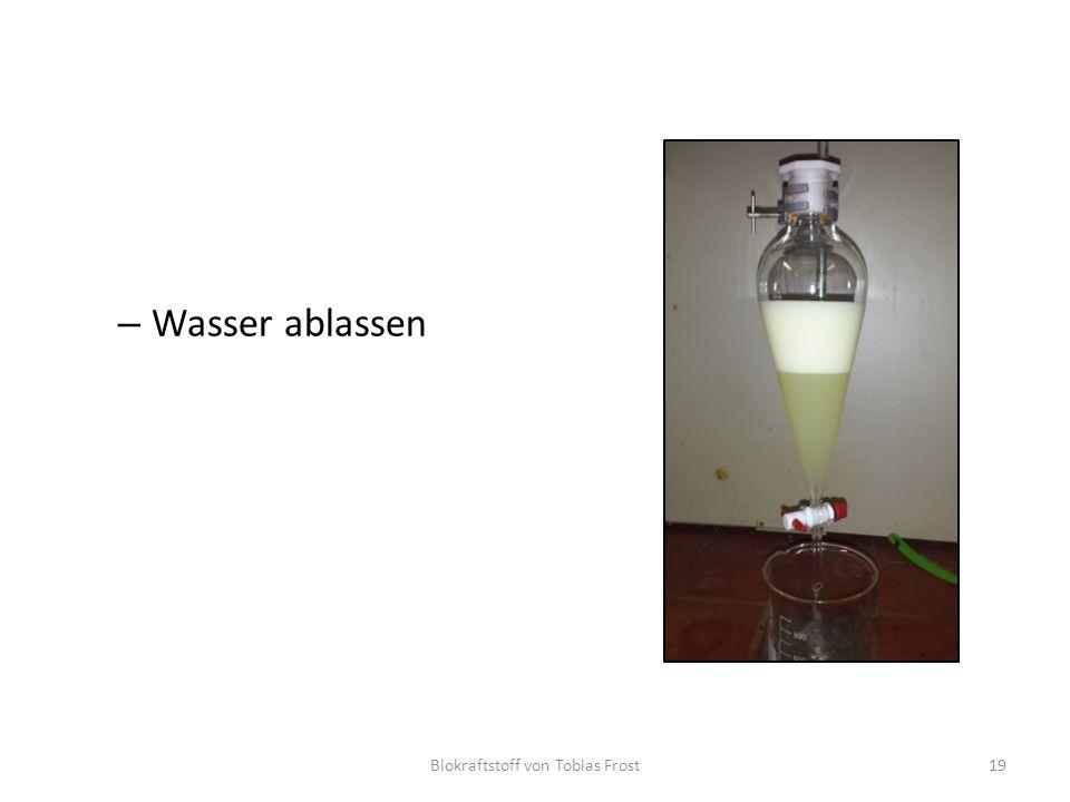 – Wasser ablassen Biokraftstoff von Tobias Frost19