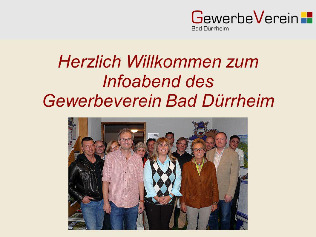 Herzlich Willkommen zum Infoabend des Gewerbeverein Bad Dürrheim
