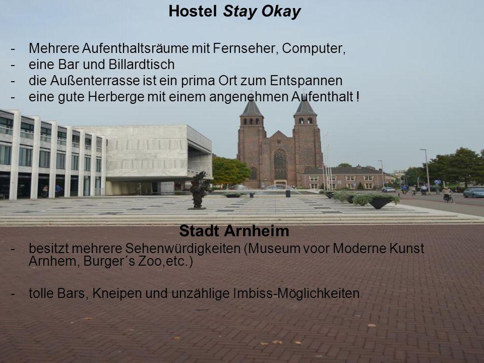 Hostel/Stadt Hostel Stay Okay -Mehrere Aufenthaltsräume mit Fernseher, Computer, -eine Bar und Billardtisch -die Außenterrasse ist ein prima Ort zum E