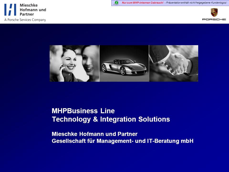 Nur zum MHP-internen Gebrauch! - Präsentation enthält nicht freigegebene Kundenlogos! Mieschke Hofmann und Partner Gesellschaft für Management- und IT