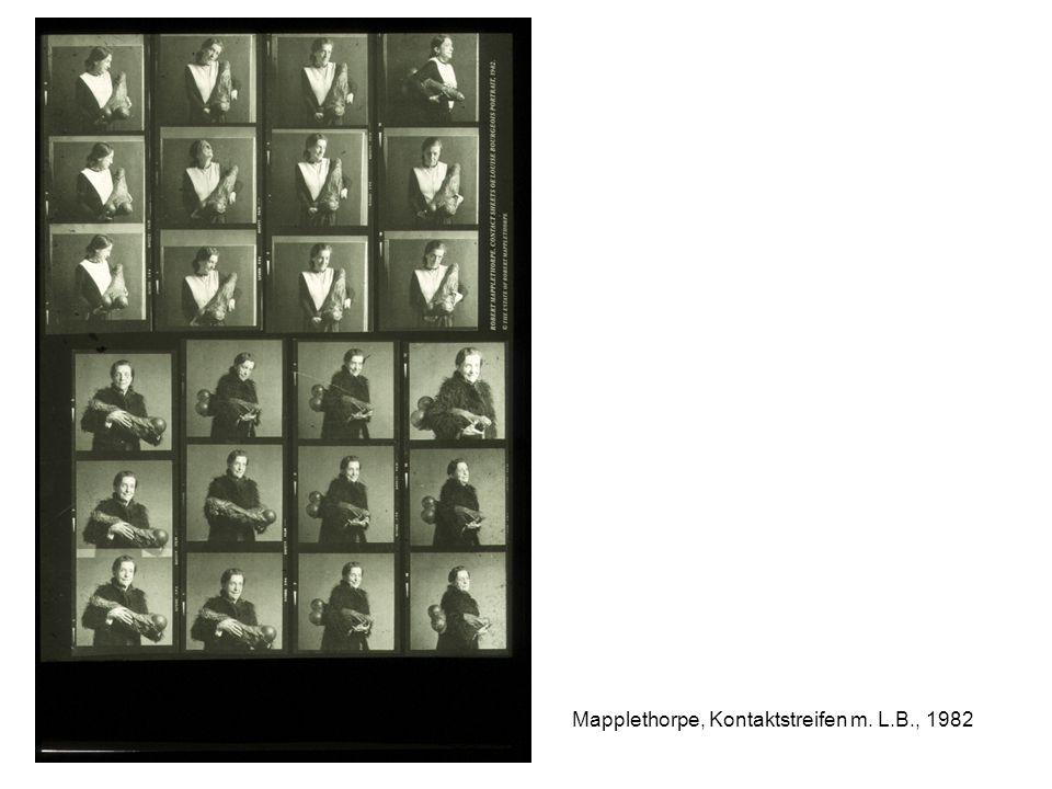 Mapplethorpe, Kontaktstreifen m. L.B., 1982