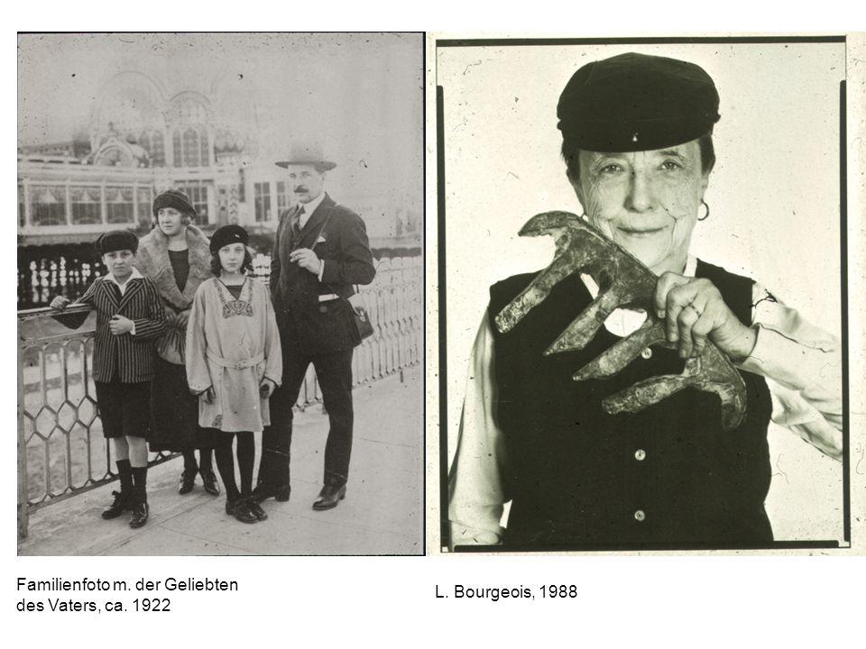 Familienfoto m. der Geliebten des Vaters, ca. 1922 L. Bourgeois, 1988
