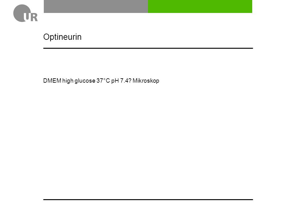 Optineurin DMEM high glucose 37°C pH 7.4 Mikroskop