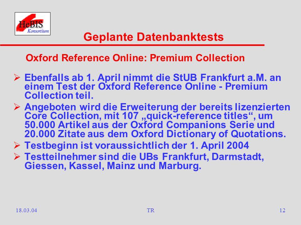 18.03.04TR11  Am 9. Februar wurde in der StUB Frankfurt a.M.