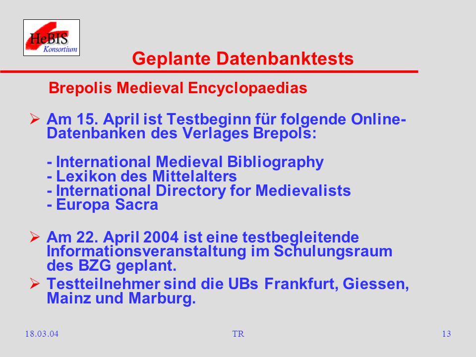 18.03.04TR12  Ebenfalls ab 1. April nimmt die StUB Frankfurt a.M.
