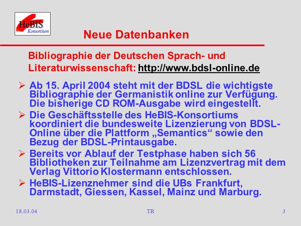 18.03.04TR2  Seit 1. Januar 2004 kann vom Campus der Universität Frankfurt a.M.