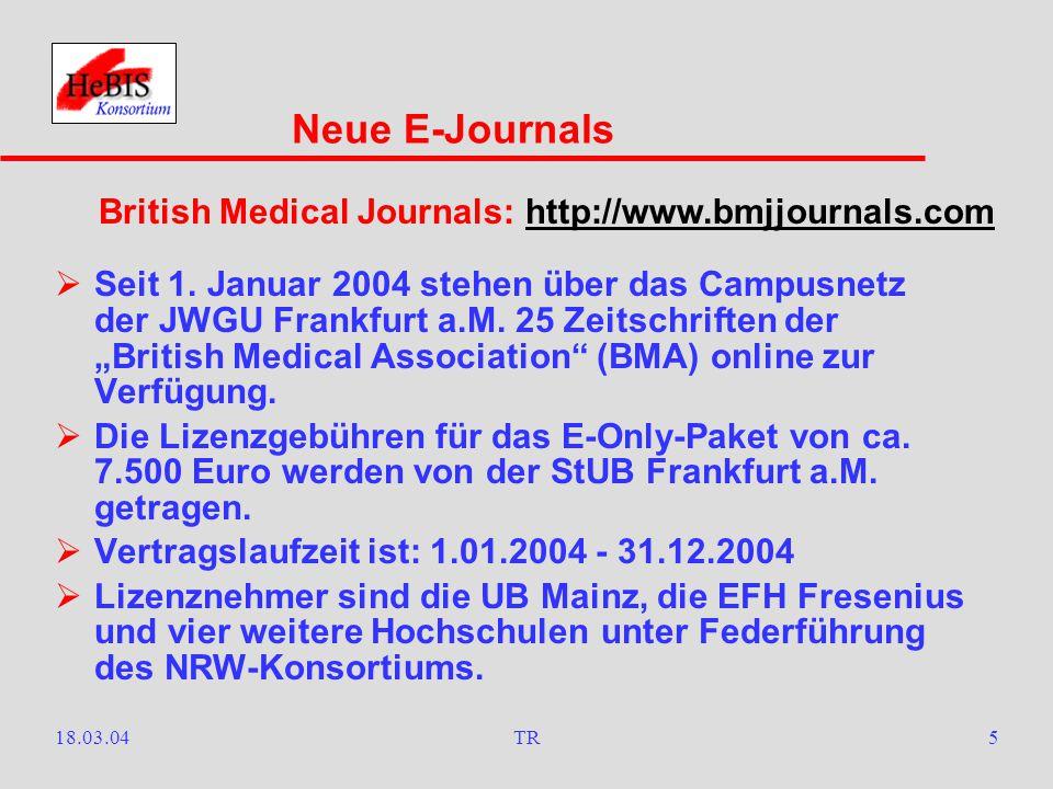 18.03.04TR4  Seit 1. Januar 2004 hat die StUB Frankfurt a.M.