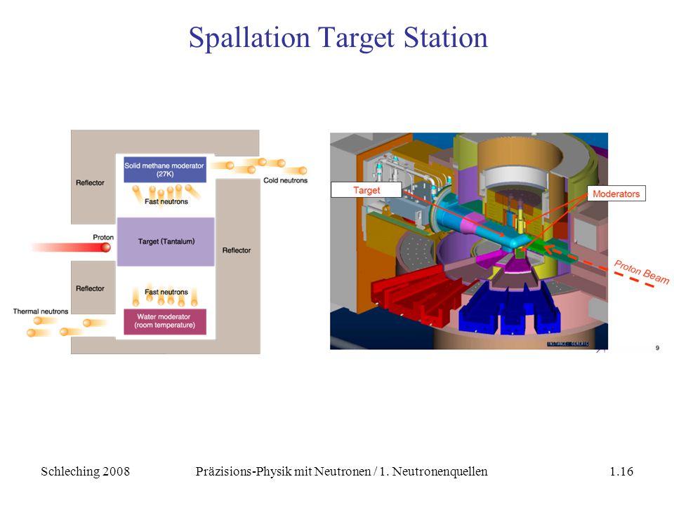 Schleching 2008Präzisions-Physik mit Neutronen / 1. Neutronenquellen1.16 Spallation Target Station