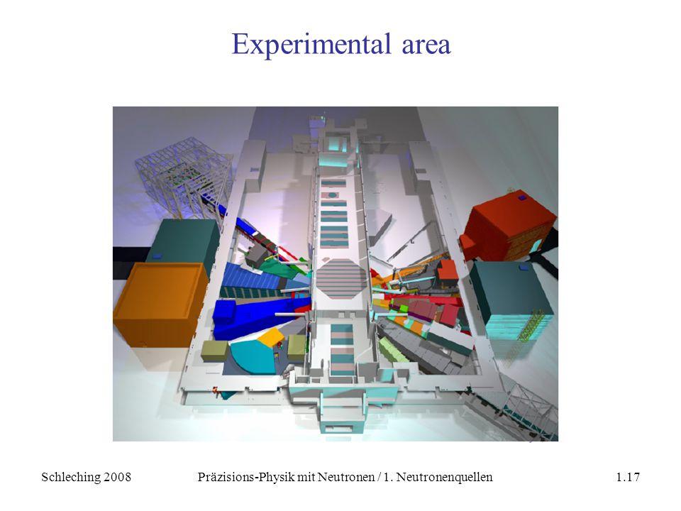 Schleching 2008Präzisions-Physik mit Neutronen / 1. Neutronenquellen1.17 Experimental area