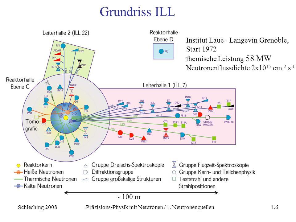 Schleching 2008Präzisions-Physik mit Neutronen / 1. Neutronenquellen1.7 ILL n-Leiterhalle
