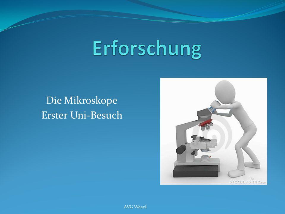 Die Mikroskope Erster Uni-Besuch AVG Wesel
