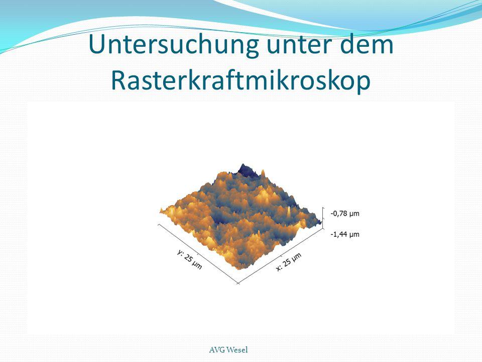 Untersuchung unter dem Rasterkraftmikroskop AVG Wesel