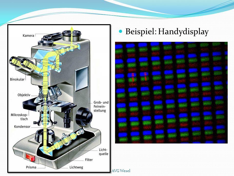 Beispiel: Handydisplay AVG Wesel