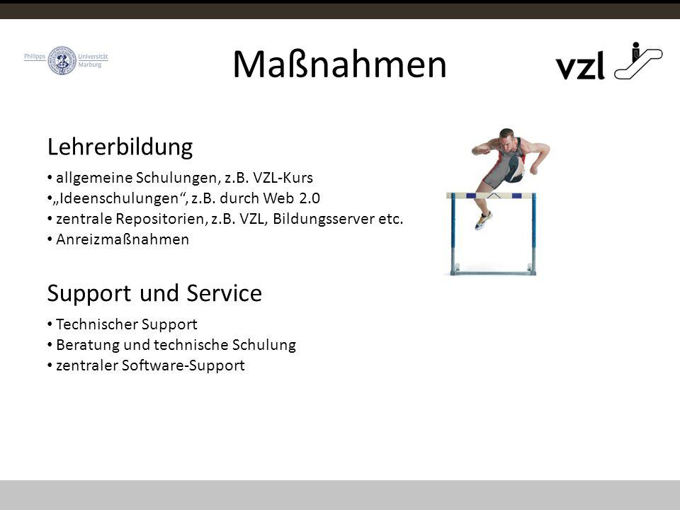 """Maßnahmen allgemeine Schulungen, z.B. VZL-Kurs """"Ideenschulungen , z.B."""
