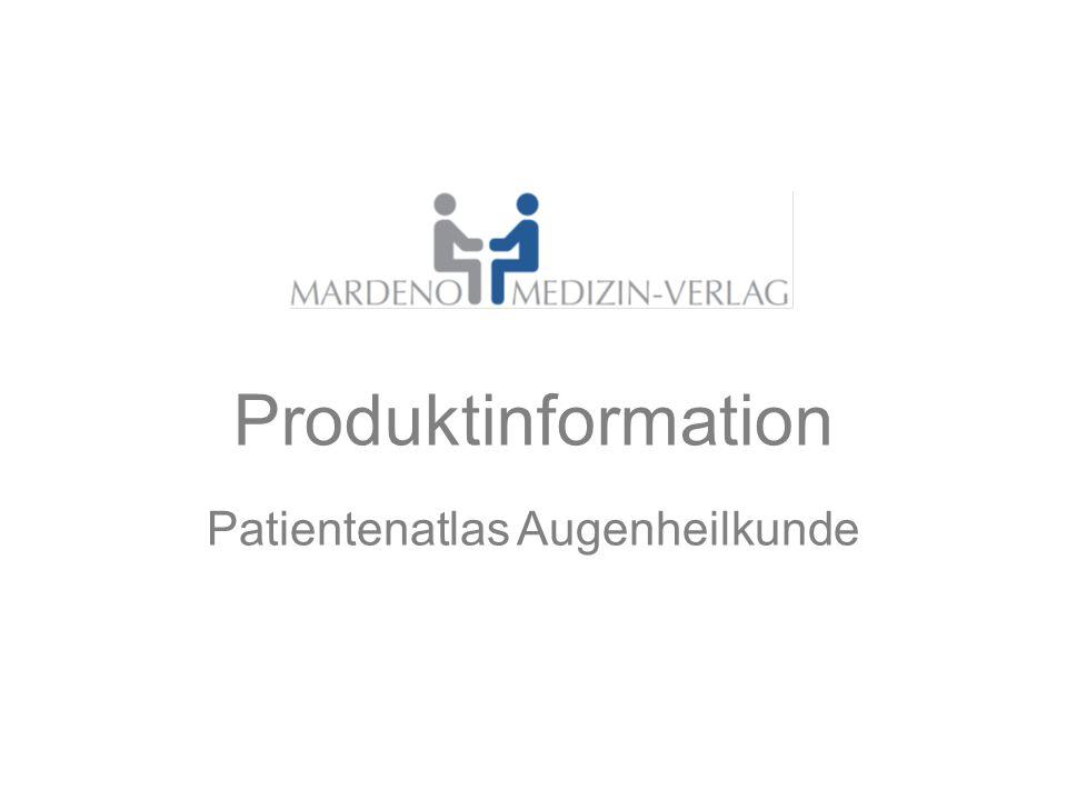 Produktinformation Patientenatlas Augenheilkunde