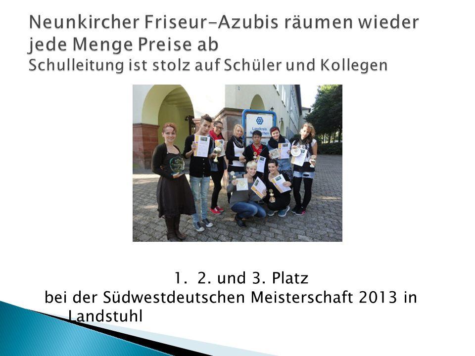 1.2. und 3. Platz bei der Südwestdeutschen Meisterschaft 2013 in Landstuhl