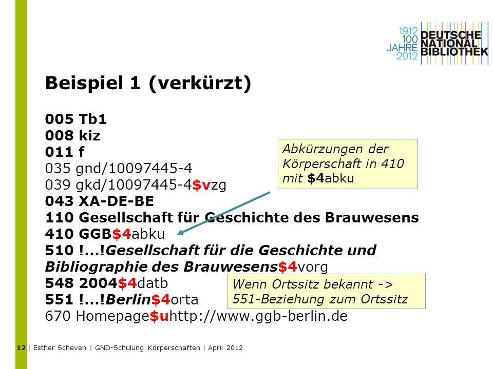 Beispiel 1 (verkürzt) 005 Tb1 008 kiz 011 f 035 gnd/10097445-4 039 gkd/10097445-4$vzg 043 XA-DE-BE 110 Gesellschaft für Geschichte des Brauwesens 410