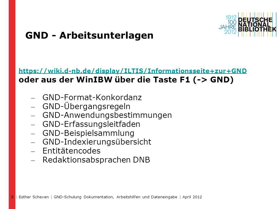 GND - Arbeitsunterlagen https://wiki.d-nb.de/display/ILTIS/Informationsseite+zur+GND oder aus der WinIBW über die Taste F1 (-> GND) GND-Format-Konkor
