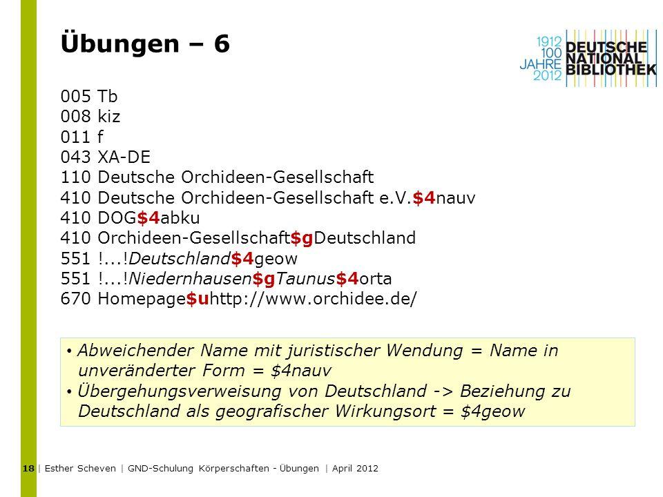 Übungen – 6 005 Tb 008 kiz 011 f 043 XA-DE 110 Deutsche Orchideen-Gesellschaft 410 Deutsche Orchideen-Gesellschaft e.V.$4nauv 410 DOG$4abku 410 Orchid