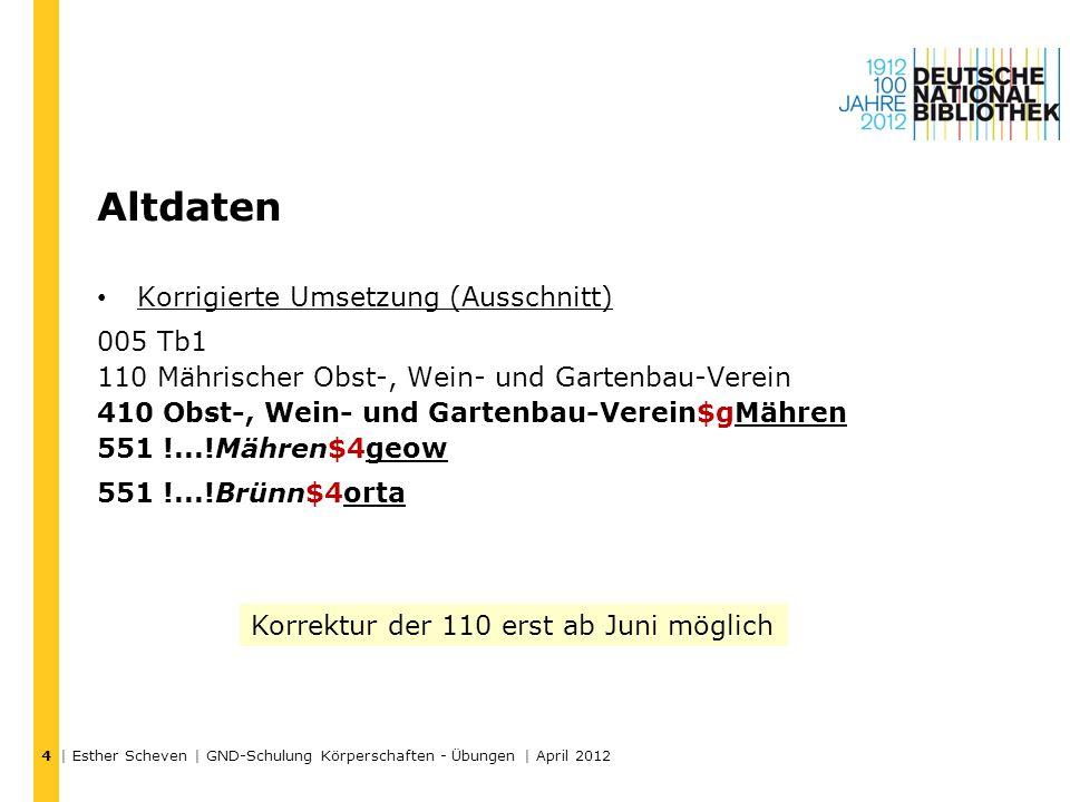 –http://www.wkkf.org/http://www.wkkf.org/ Übungen – 5 | Esther Scheven | GND-Schulung Körperschaften - Übungen | April 2012 15